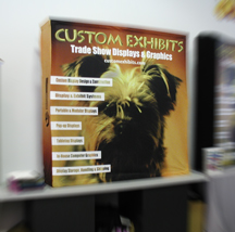 Custom Exhibits One Fabric table top display